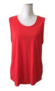 Xersion-Activewear-Tank-Top-Scoop-Neck-Athletics-Marathon-Red-Women-039-s-Size-L-NWT