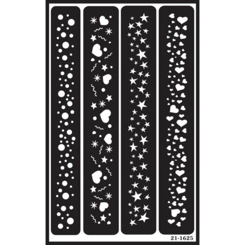 Sparkle Border Over /'n/' Over Glass Etching Stencil N Reusable Stencils x