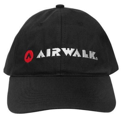*** Nuovo *** Airwalk Casual Curvo Nero Peak Berretto Da Baseball/cappello, Da Uomo.- Per Vincere Una Grande Ammirazione