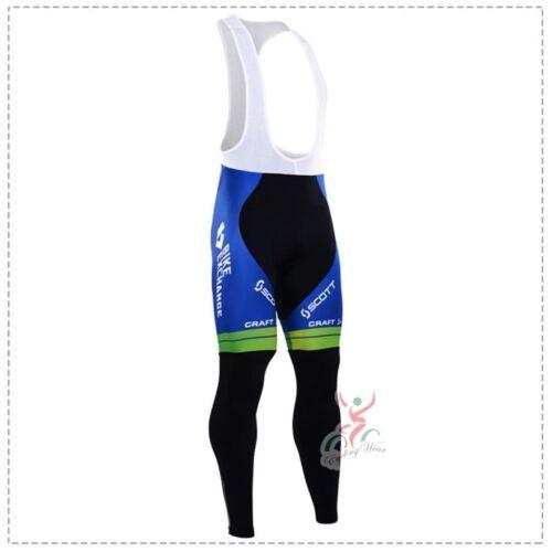 WL335 Team Cycling Winter Thermal Fleece long sleeve jersey Bib Pants Kits