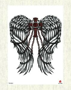 Lower Back Hand Chest Angel Wing Rose Large 8 25 Temporary Arm Tattoo Ebay
