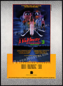 A NIGHTMARE ON ELM STREET 3_Dream Warriors __Orig. 1987 Trade AD_screening promo