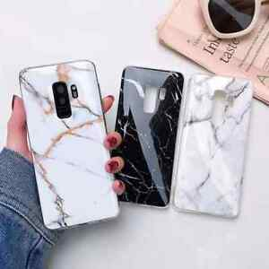 Geometric-Marble-Case-For-Samsung-Galaxy-S9-Cover-Gel-Silicone-Shockproof