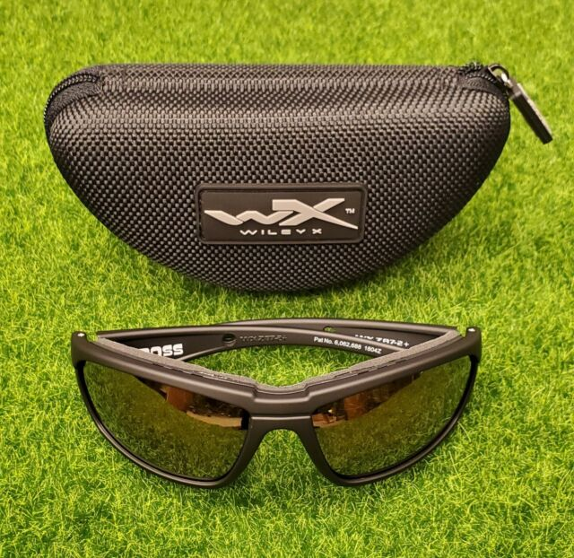 OCULUS SILVER FLASH LENSES//GLOSS BLACK FRAME SUN /& SAFETY GLASSES DVX by Wiley X
