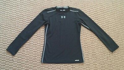 Under Armour Youth Boys Heatgear Compression Long Sleeve Shirt 1202691 FREE SHIP