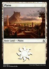 x4 Plains (256) MTG Amonkhet M/NM, English