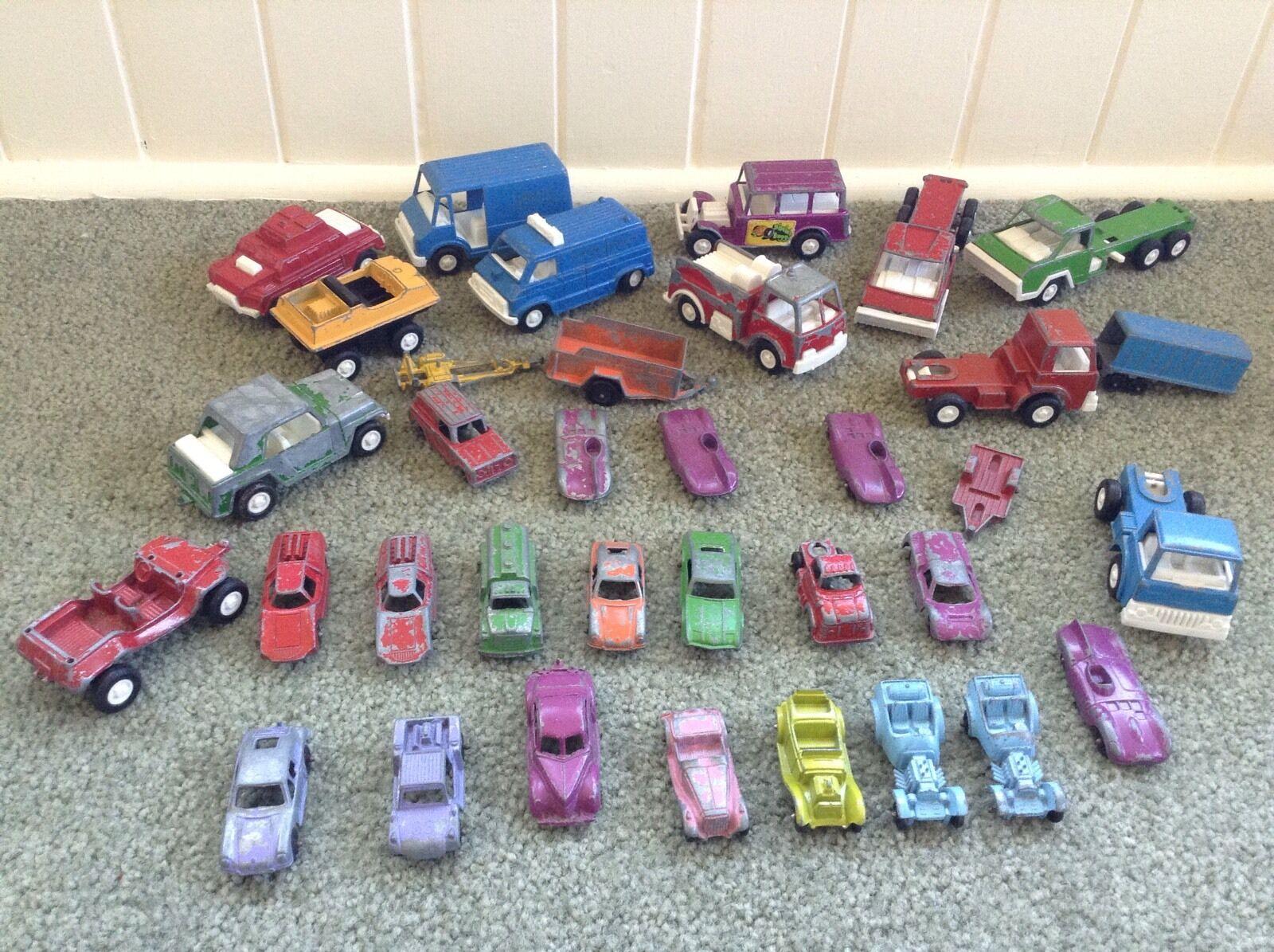 hasta 42% de descuento Lote 35 De Colección Metal Die Cast Cast Cast Metal TootsieJuguete de los coches camiones remolques Vans 1960s 70s  80% de descuento