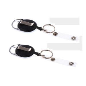 2pcs-Retractable-60cm-Nylon-Pull-Reel-Key-Ring-ID-Holder-with-Belt-Clip