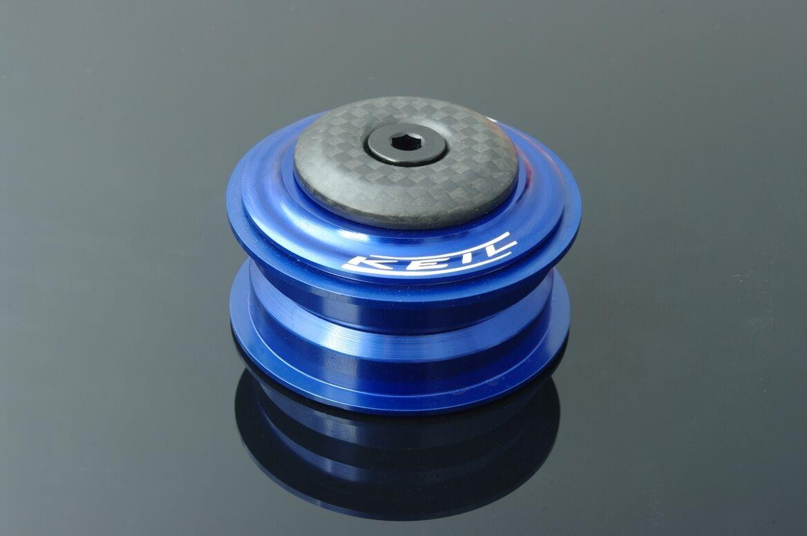 KEIL 1 1/8 Steuersatz Ultralight 65g 44 mm blau semi-integriert Carbon leicht