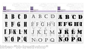 Clear Stamps Silikon Stempel Kars Cart Us Alphabet Buchstaben