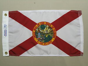 Florida-1900-State-Indoor-Outdoor-Dyed-Nylon-Boat-Flag-Grommets-12-034-X-18-034
