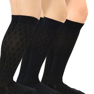 eab95ad7bd TeeHee Cotton Fashion Compression Knee High Socks 3-Pack (Floral) | eBay