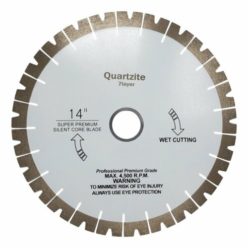 "16/"" Patterned Diamond Blade for Bridge Saw Quartzite 14/"""