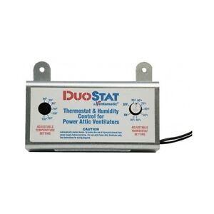 Attic Ventilator Thermostat Dual Humidistat Control