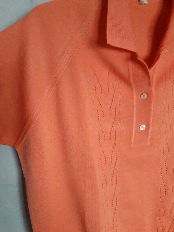 Vintage 60s  Sportswear Cardigan Sweater  Apricot… - image 7