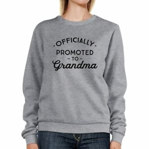 Officially-Promoted-To-Grandma-Grey-Sweatshirt