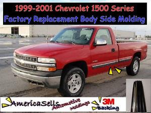 1999 2001 chevrolet chevy silverado 1500 truck chrome black side molding ebay