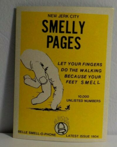 """1973 Fleer Crazy Covers Series 2 Sticker /""""Smelly Pages/"""""""