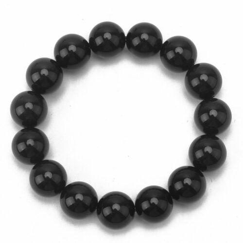 Natural AAA Rainbow Eye Obsidian Round Beads Stretchable Bracelet Band  YRK MFQ
