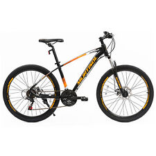 "27.5"" Yellow Black Mountain Bike Dics Brakes 21 Speeds Front Suspension Bicycles"