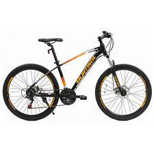 "27.5"" Yellow Black Mountain Bike Dics Brakes 21 Speeds Front Suspension Bicycles"