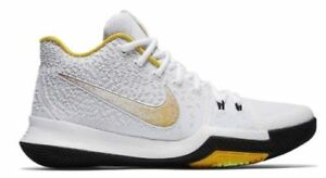 low priced d13b9 945a0 Details about SZ 13 Nike Kyrie 3 N7 Men's Basketball White Yellow Varsity  Maize 899355-117
