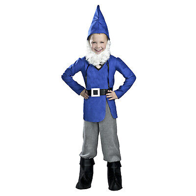 Child Boy\u0027s Garden Gnome Gnomeo And Juliet Halloween Costume Shirt Pants  Hat