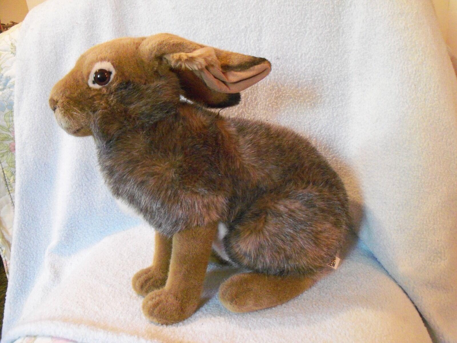 Kosen Rabbit hand made in Germany 16  large Gris Marrone rabbit