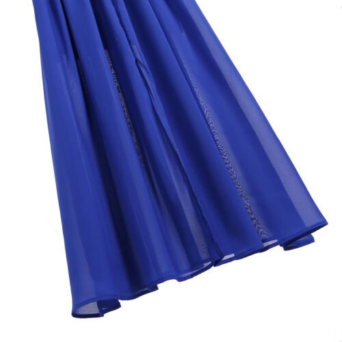 Women/'s Lace Slit Chiffon Dress Long Evening Prom Party Wedding Bridesmaid Gowns