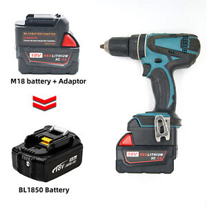 Milwaukee-M18-18V-Li-Ion-fuer-MAKITA-18V-BL-Serie-Li-Ion-Akku-Adapter