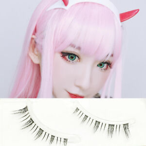 0f3ffb5ddbb Darling In The FRANXX 002 Cosplay Lower Under False Eyelashes Cross ...