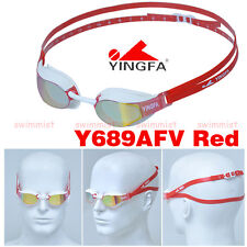 2016 NEW YINGFA Y689AFV RED SWIMMING GOGGLES ANTI-FOG UV PROTECTION [FREE SHIP]!