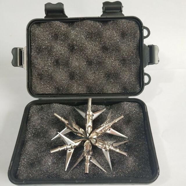 6pcs 100 Grain Ramcat Broadhead 3 Blade Archery Arrow Heads Hunting Points W//Box