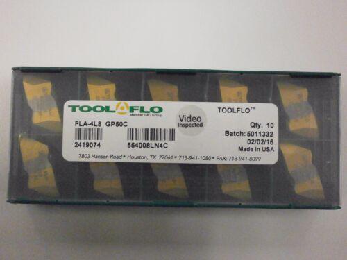 ToolFlo FLA 4L8 GP50 Top Notch Carbide Acme Threading Inserts NA 4L8 10pc