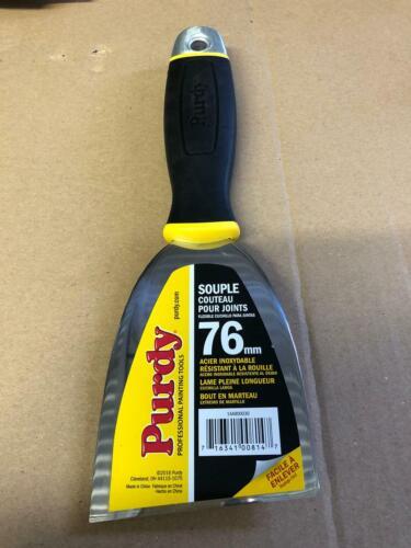 """Purdy 3/"""" FLEX Premium en acier inoxydable mastic couteau grattoirs"""