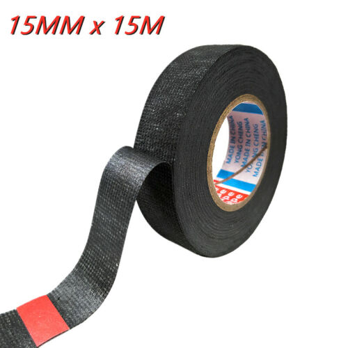 32mmx15m Wiring Loom Tape Adhesive Cloth Fabric Harness Insulation Electric Tape
