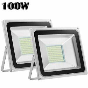 2x-100W-Cool-White-LED-Flood-Light-Outdoor-Lighting-Spotlight-Garden-Yard-Lamp
