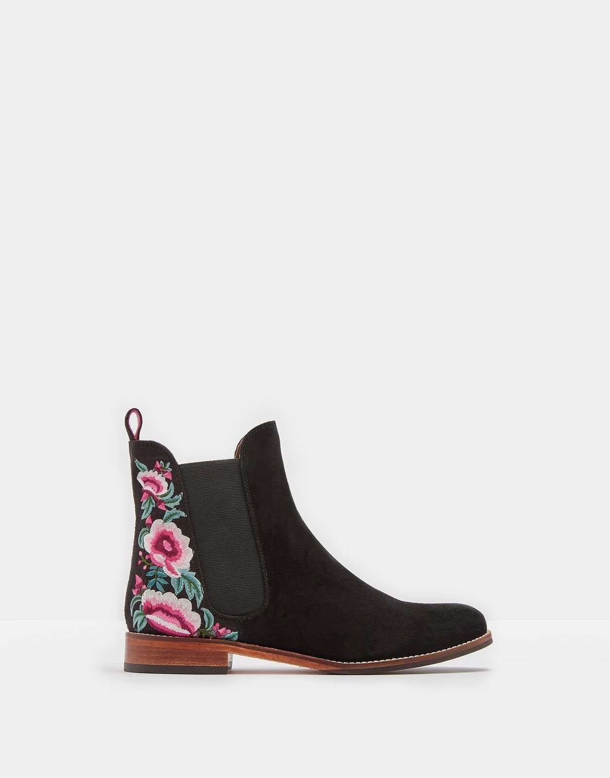 nyA TAGS BOX  JOULES  BLAND WESTBOURNE FLORAL FLAT CHELESEA BOOTS UK 6