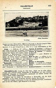 14 Villerville 1927 photo + guide (2 p.) casino plage station balnéaire élégante MRVI5X9C-08041710-501562885