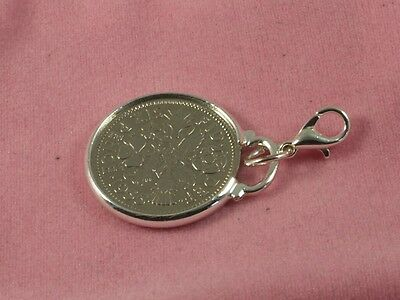 1962 56th Birthday lucky sixpence coin bracelet charm ready to hang 1962 charm