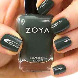 Image Is Loading Zoya Zp630 Evvie Dark Grey With Teal Green