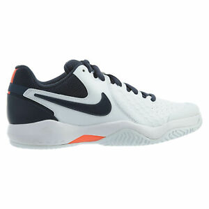 Details about Nike Air Zoom Resistance Mens 918194 148 White Blue Orange Tennis Shoes Size 9