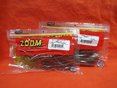 20cnt 2 PCKS #009-294 Green Pumpkin Blue Flash ZOOM Mag II Worm