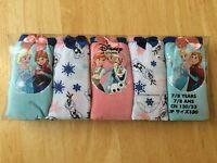 Disney Store Frozen Elsa And Anna Underwear Panties 5 Pairs/pk 5/6,7/8 Girls