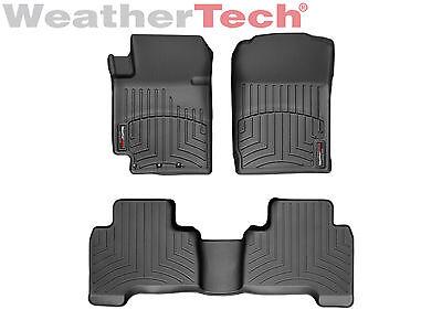 Black WeatherTech Custom Fit Front FloorLiner for Suzuki Grand Vitara