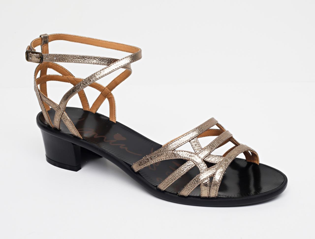 LANVIN damen Gold Strappy Ankle-Strap Mid-Heel Sandal Pump 9.5-39.5 NEW+BOX