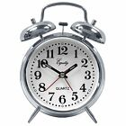 Equity Mechanical Wind-Up Clocks by La Crosse Analog Twin Bell Alarm Clock