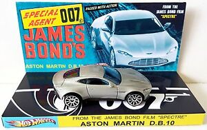 Hot-Wheels-JAMES-BOND-007-Spectre-ASTON-MARTIN-DB10-Car-on-Custom-Display-b