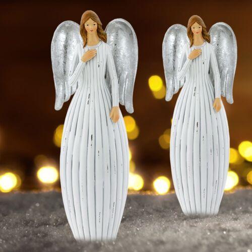 2x Shabby Ange de Noël Table Décorations Cimetière Bijoux Stand personnages