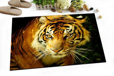 Stare Of Tiger King Non-slip Bathroom Carpet Doormat Bath Mat Kitchen Floor Rug